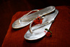 silver sandals - photo/picture definition - silver sandals word and phrase image