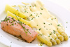 asparagus with salmon - photo/picture definition - asparagus with salmon word and phrase image