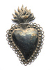 metal heart - photo/picture definition - metal heart word and phrase image