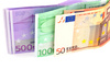 euro banknotes - photo/picture definition - euro banknotes word and phrase image