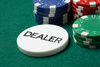 dealer button - photo/picture definition - dealer button word