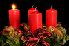 Advent wreath - photo/picture definition - Advent wreath word and phrase image