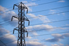 electrical pylon - photo/picture definition - electrical pylon word and phrase image