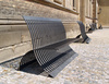 metal benches - photo/picture definition - metal benches word and phrase image