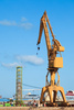 dockyard crane - photo/picture definition - dockyard crane word and phrase image
