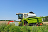 combine harvester - photo/picture definition - combine harvester word and phrase image