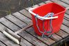 bucket and broom - photo/picture definition - bucket and broom word and phrase image
