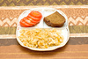 vegetarian dinner - photo/picture definition - vegetarian dinner word and phrase image