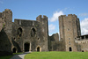 Caerphilly castle - photo/picture definition - Caerphilly castle word and phrase image