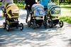 baby carriages - photo/picture definition - baby carriages word and phrase image