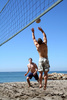 beach volleyball - photo/picture definition - beach volleyball word and phrase image
