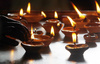 Indian oil lamps - photo/picture definition - Indian oil lamps word and phrase image