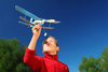 toy airplane - photo/picture definition - toy airplane word and phrase image