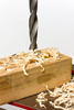 drilling wood - photo/picture definition - drilling wood word and phrase image