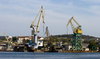 harbour cranes - photo/picture definition - harbour cranes word and phrase image