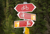 bicycle signpost - photo/picture definition - bicycle signpost word and phrase image