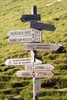 hiking signpost - photo/picture definition - hiking signpost word and phrase image