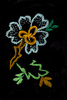 embroidered flower - photo/picture definition - embroidered flower word and phrase image