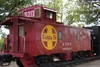 caboose of train - photo/picture definition - caboose of train word and phrase image