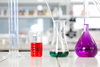 lab flasks - photo/picture definition - lab flasks word and phrase image