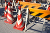 prohibition cones - photo/picture definition - prohibition cones word and phrase image