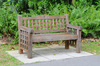 garden bench - photo/picture definition - garden bench word and phrase image