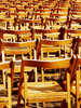 empty chairs - photo/picture definition - empty chairs word and phrase image