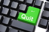 quit - photo/picture definition - quit word and phrase image