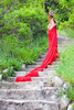 lady in red - photo/picture definition - lady in red word and phrase image