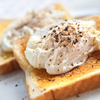 poached egg on toast - photo/picture definition - poached egg on toast word and phrase image