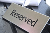 reserved - photo/picture definition - reserved word and phrase image