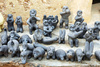 clay statues - photo/picture definition - clay statues word and phrase image