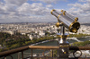 Eiffel tower telescope - photo/picture definition - Eiffel tower telescope word and phrase image
