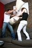 pillow fight - photo/picture definition - pillow fight word and phrase image