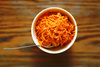 fresh carrot salad - photo/picture definition - fresh carrot salad word and phrase image