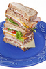 tall club sandwich - photo/picture definition - tall club sandwich word and phrase image