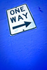 one way sign - photo/picture definition - one way sign word and phrase image