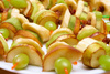 fruit canapes - photo/picture definition - fruit canapes word and phrase image