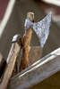 Viking hatchets - photo/picture definition - Viking hatchets word and phrase image