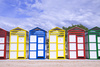 beach cabins - photo/picture definition - beach cabins word and phrase image