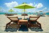 beach lounge chairs - photo/picture definition - beach lounge chairs word and phrase image