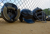 batting helmets - photo/picture definition - batting helmets word and phrase image