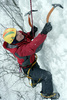 ice climbing - photo/picture definition - ice climbing word and phrase image