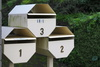 octagonal mailboxes - photo/picture definition - octagonal mailboxes word and phrase image